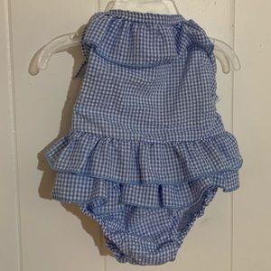 Other - Boutique  blue 2 piece girls swim suit